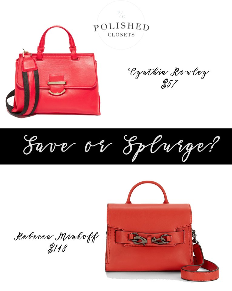 Save or Splurge: Top Handle Handbags by fashion blogger Maggie of Polished Closets