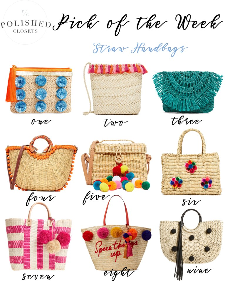 Pick of the Week: Straw Handbags by fashion blogger Maggie of Polished Closets