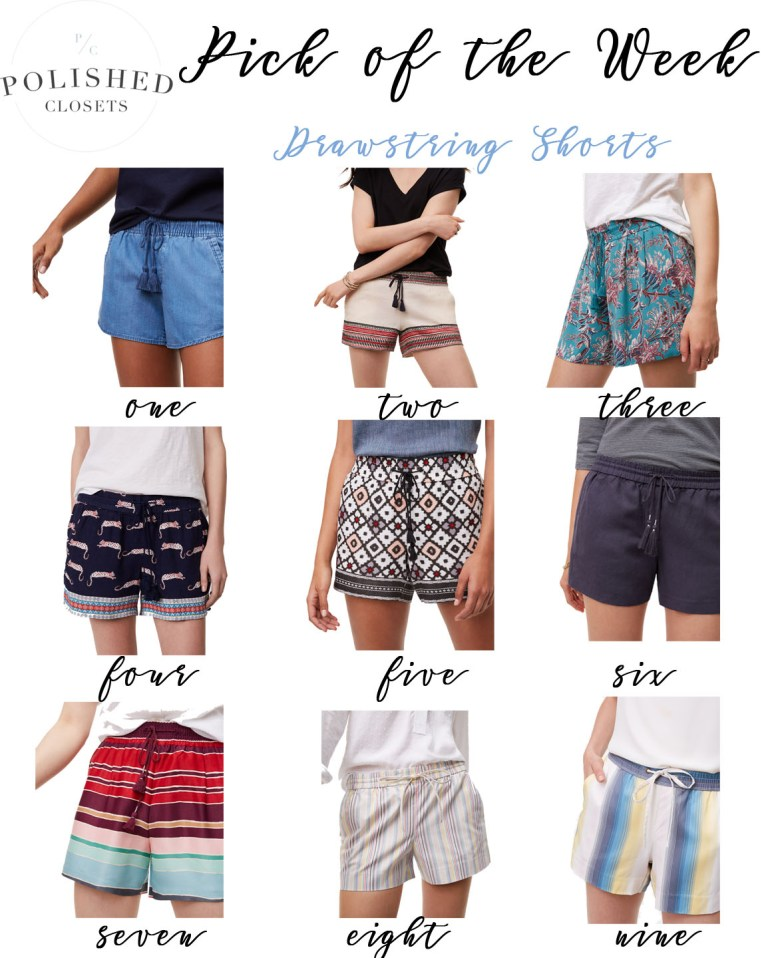 Pick of the Week: Drawstring Shorts by fashion blogger Maggie of Polished Closets