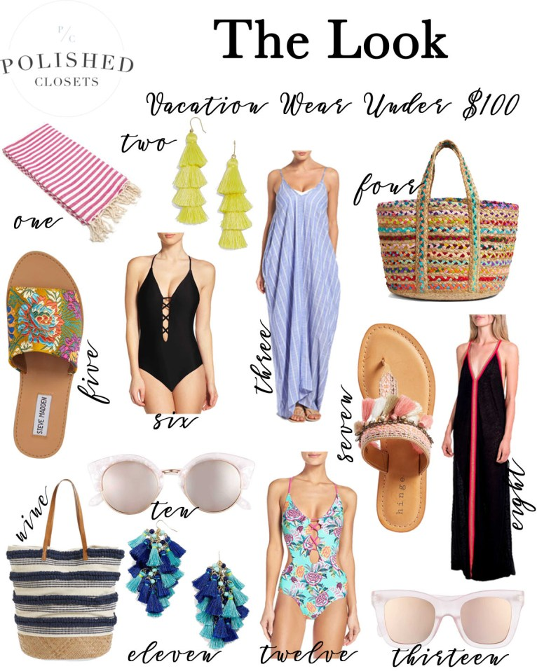 Vacation Wear Under $100 by Fashion Blogger Maggie from Polished Closets