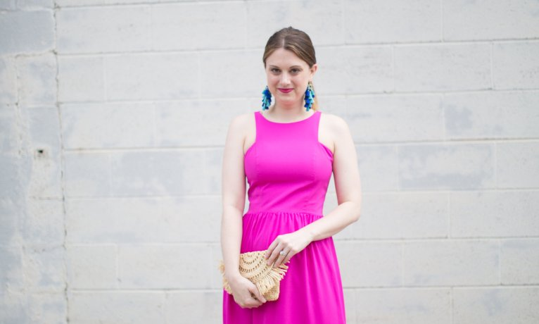 A Gorgeous Pink Maxi Dress