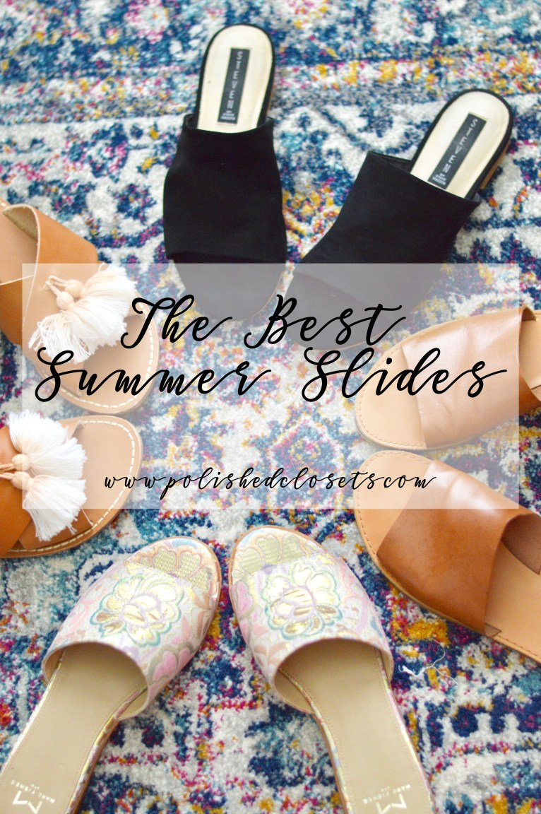 The Best Summer Slides by Fashion Blogger Maggie Kern of Polished Closets