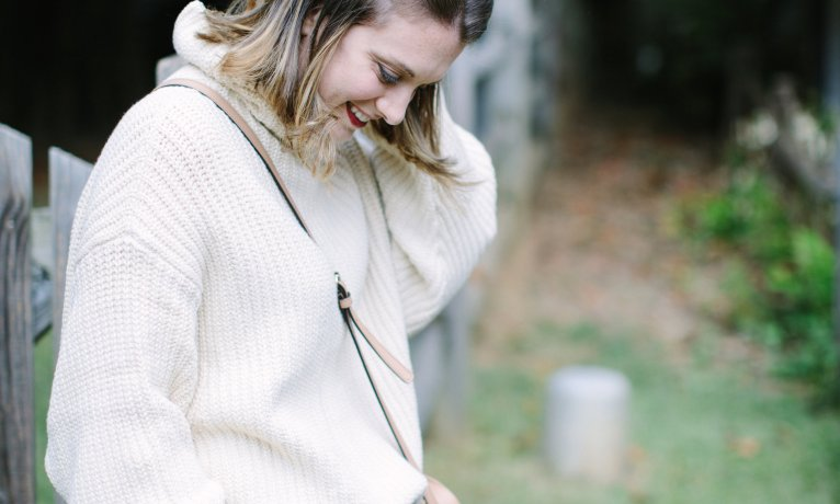 How to Dress up a Chunky Sweater