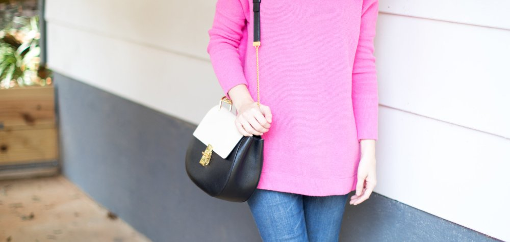 A Bright Pink Sweater for Fall