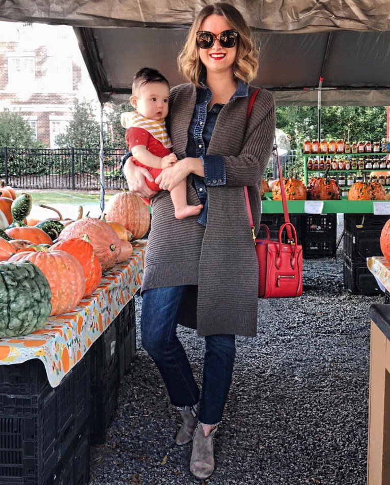 A cozy cardigan for the pumpkin patch