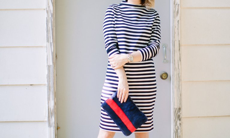 A Striped Long Sleeve Dress – Your Fall Transition Staple