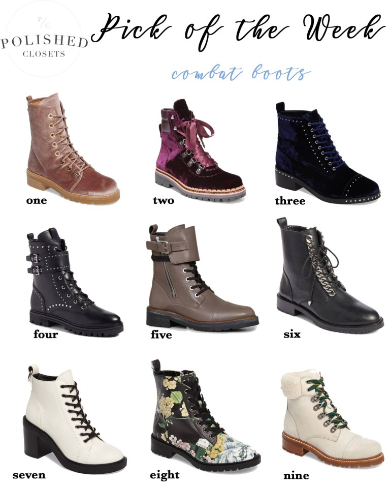 The top 9 best combat boots for a chic and edgy winter by fashion blogger Maggie Kern of Polished Closets