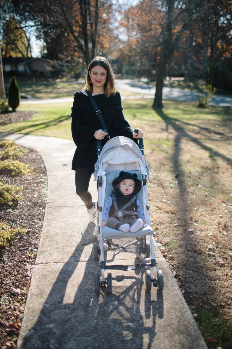Two Must-Haves for Traveling with Baby by Mom and Fashion Blogger Maggie Kern of Polished Closets.