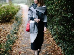How to Style Black Sweater Dress for Winter by Fashion and Lifestyle Blogger Maggie Kern of Polished Closets.