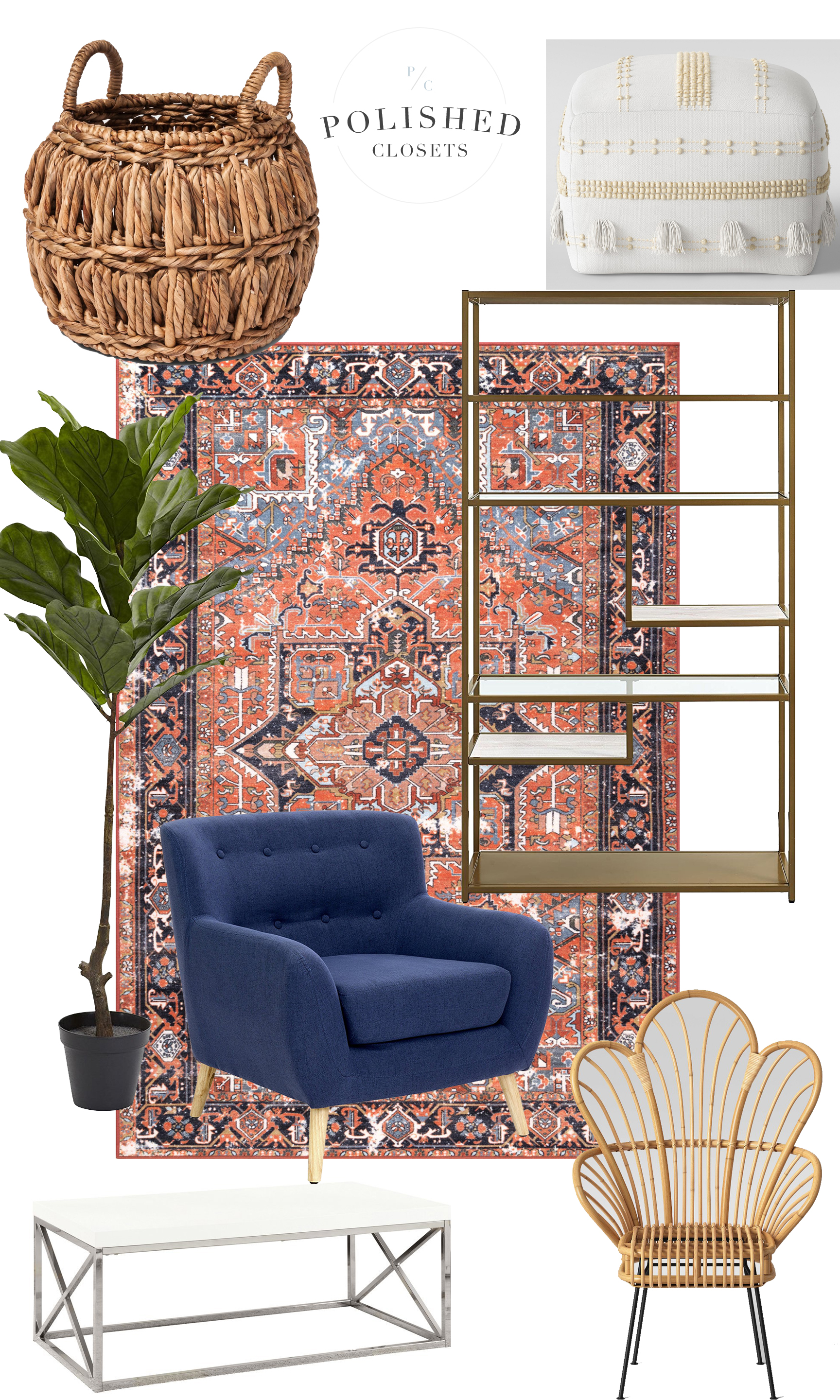 A Modern Boho Inspired Living Room