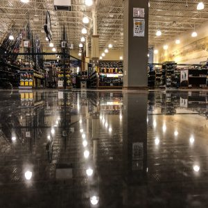 Retail Polished Concrete Floor