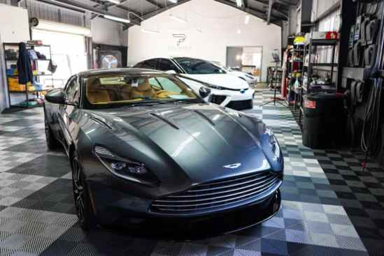 Auto detailing this Aston Martin in Long Beach California