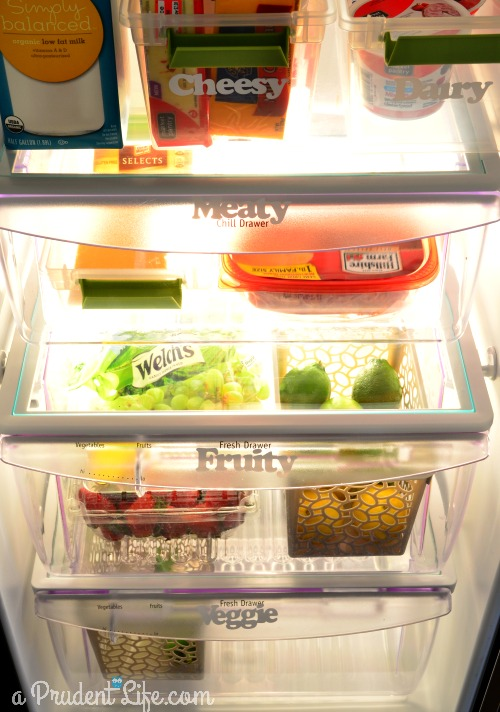 Organized fridge drawer