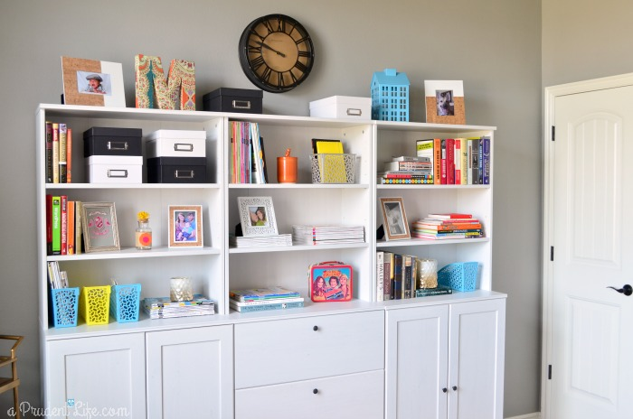 Bookcase Styling in Office
