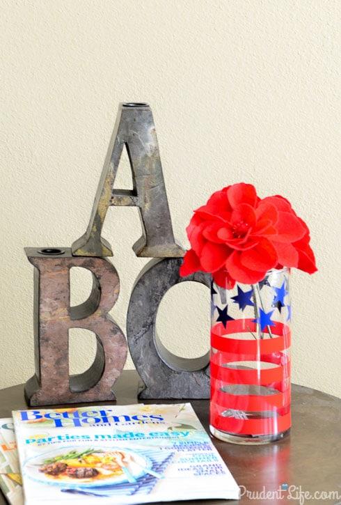DIY #Patriotic Vase