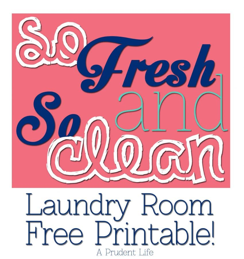 Free laundry room printable - So Fresh and So Clean