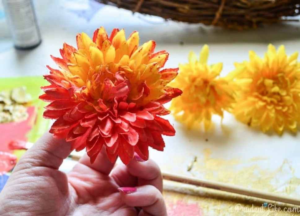 Yes - you can paint fake flowers!