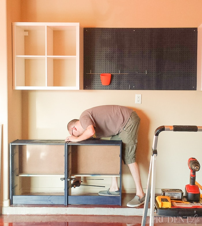 Assembling IKEA Garage Workbench for Storage