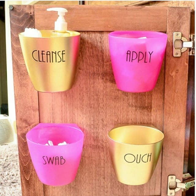 Use IKEA BYGEL Containers to Organize Your Bathroom