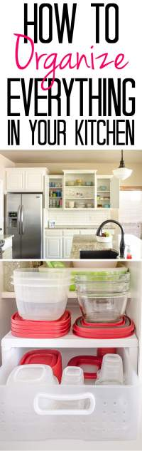 How to Organize Everything in Your Kitchen - Polished Habitat