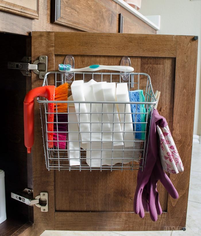 under sink organizing in 5 easy steps