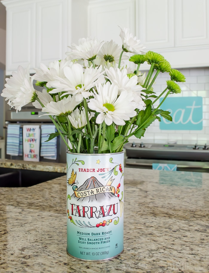 Decorating with Trader Joe's Coffee Canisters!