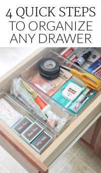 How to Organize the Kitchen Junk Drawer - Polished Habitat