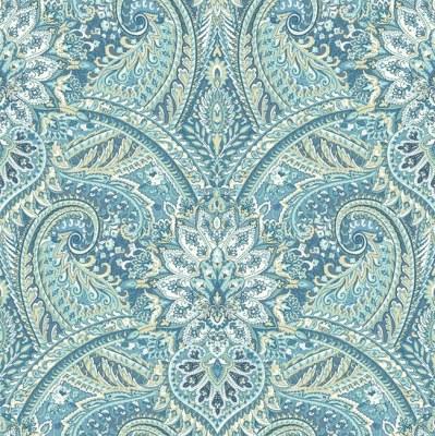 Blue Paisley Wallpaper