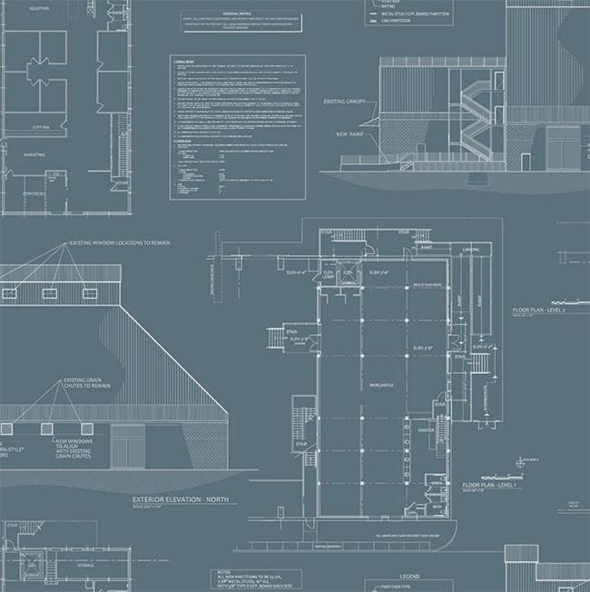 Blueprint Architectural Wallpaper