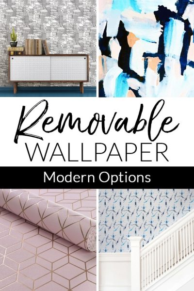 Modern Removable Wallpaper Examples - Temporary is good!