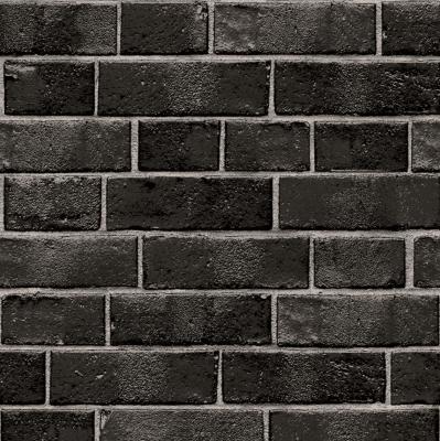 Black brick Temporary Wallpaper