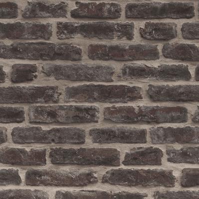 Classic Red Brownstone Brick Wallpaper
