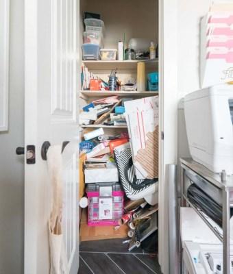 Messy Office Supply Closet