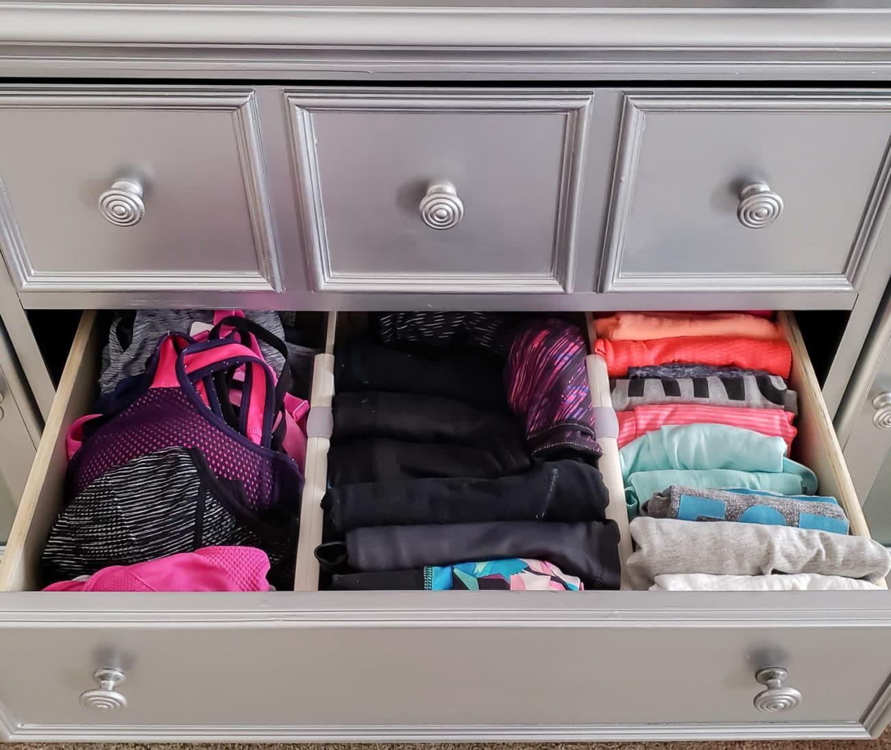 how to organize dresser drawers polished habitat. Black Bedroom Furniture Sets. Home Design Ideas