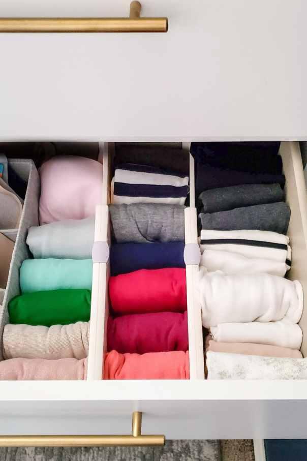 How to Organize Dresser Drawers - Polished Habitat