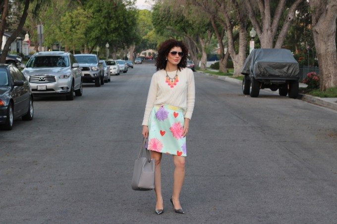 mixing textures outfit