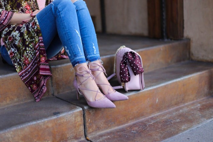 burgundy and blush accessories