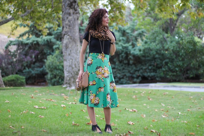 Anthropologie fall florals and leopar print