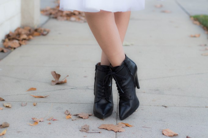 Polished whimsy in victorian romance theme outfit and booties