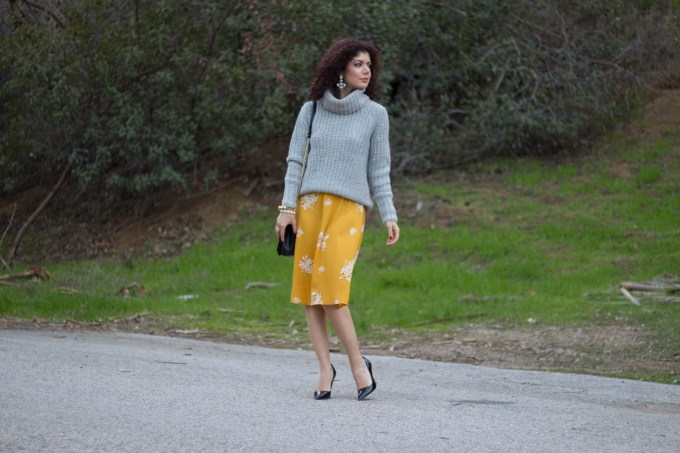 Polished whimsy in gray and mustard