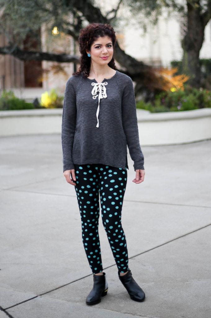 lu la roe polka dot leggings