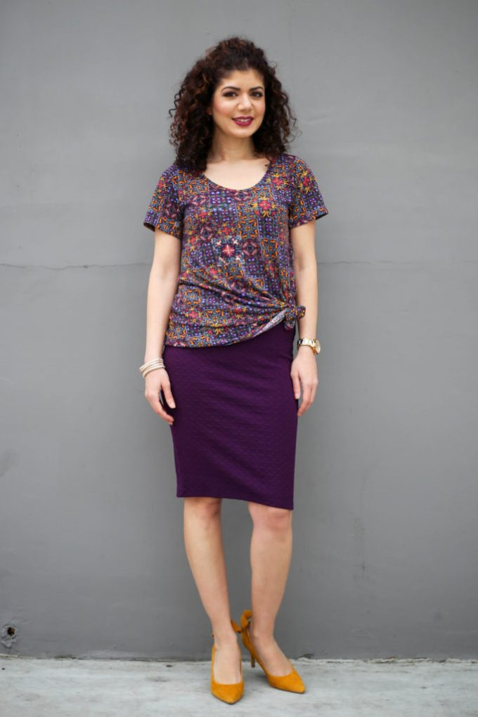 Lu la roe cassie skirt with classic tee