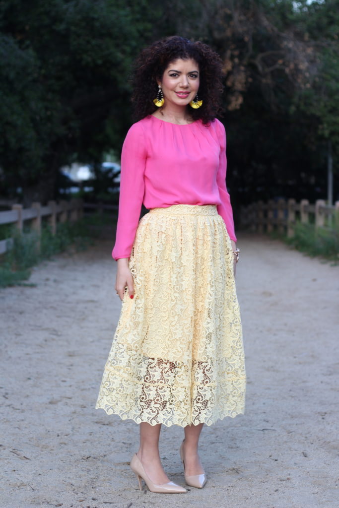 Dress color combination for yellow
