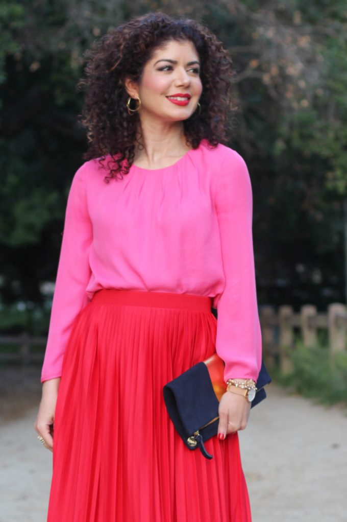 How To Wear A Pink And Red Outfit Blogger Polished Whimsy Shows Put