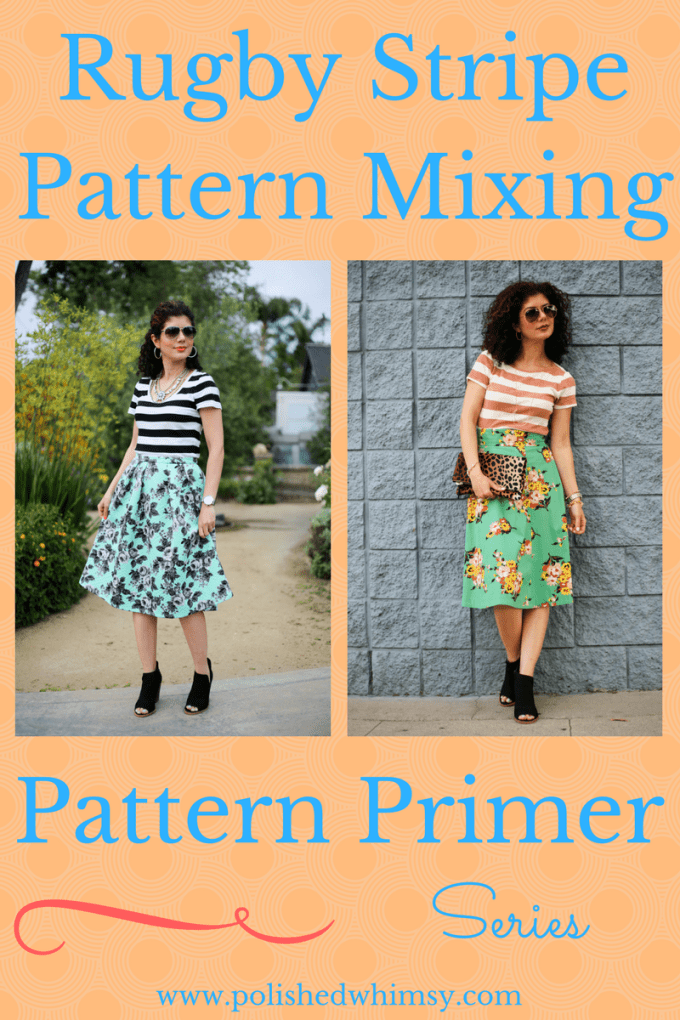 How to style rugby stripe pattern mixing outfits