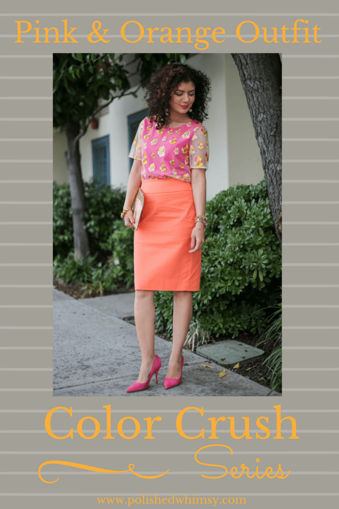 How to wear a pink and orange outfit