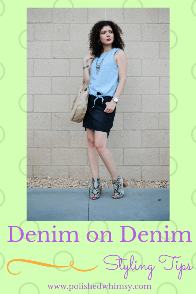 How to style a denim on denim outfit
