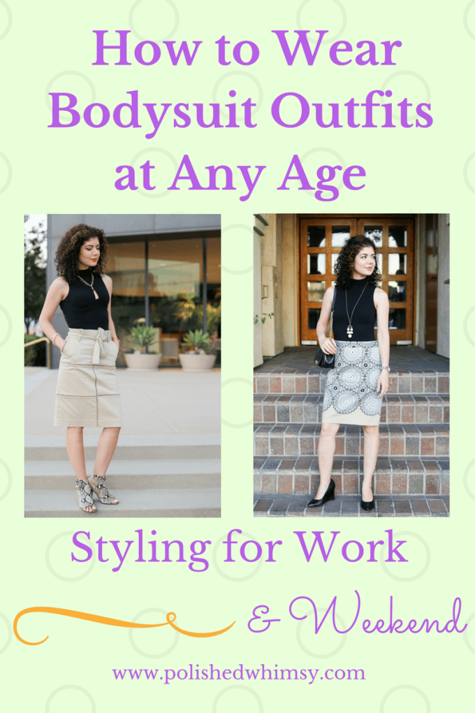 How to wear bodysuit outfits at any age | bodysuits | commando bodysuit | sheer bodysuit | black bodysuit | bodysuits for any occasion | style over 40 | style | fashion | outfit inspiration | what to wear | polished whimsy blog