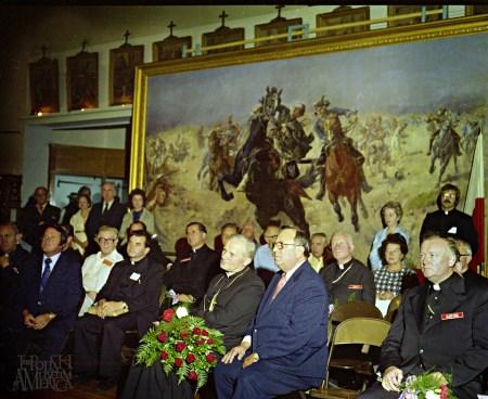 Cardinal Wojtyla at the PMA Great Hall 1976 photo George Skwarek