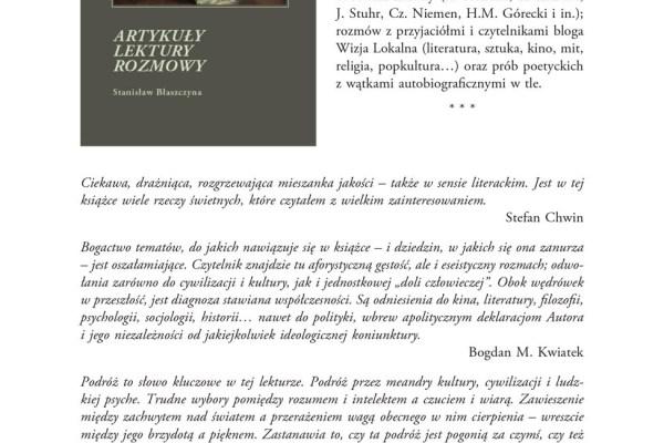 a2. Stanislaw Blaszczyna – ARTYKULY LEKTURY ROZMOWY